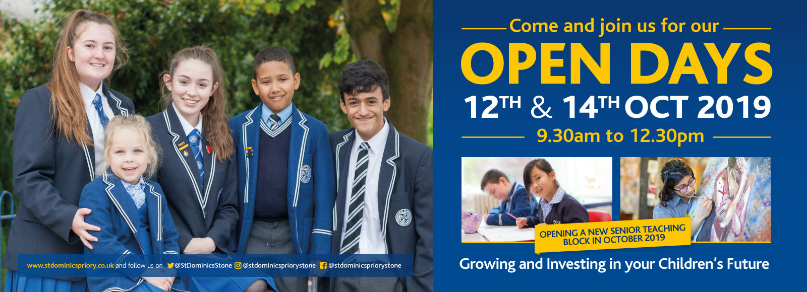 StDoms OCT OD web banner JULY19 AW