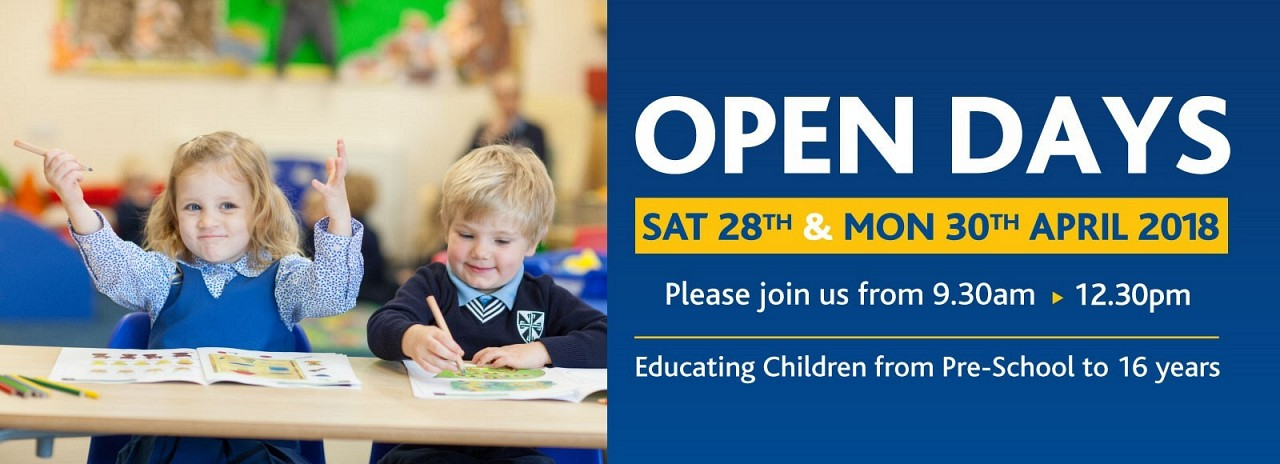 April 2018 Open Day Banner
